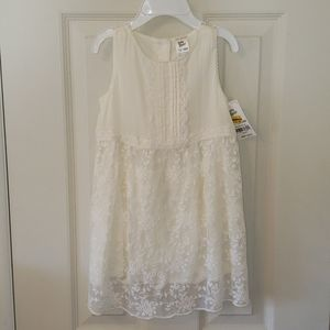 Baby b'gosh white lacy summer dress